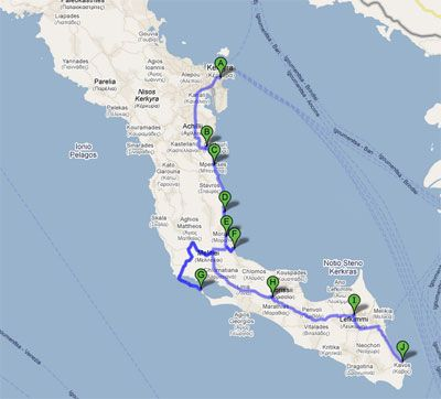 Rent a car and explore Corfu – Itinerary 6