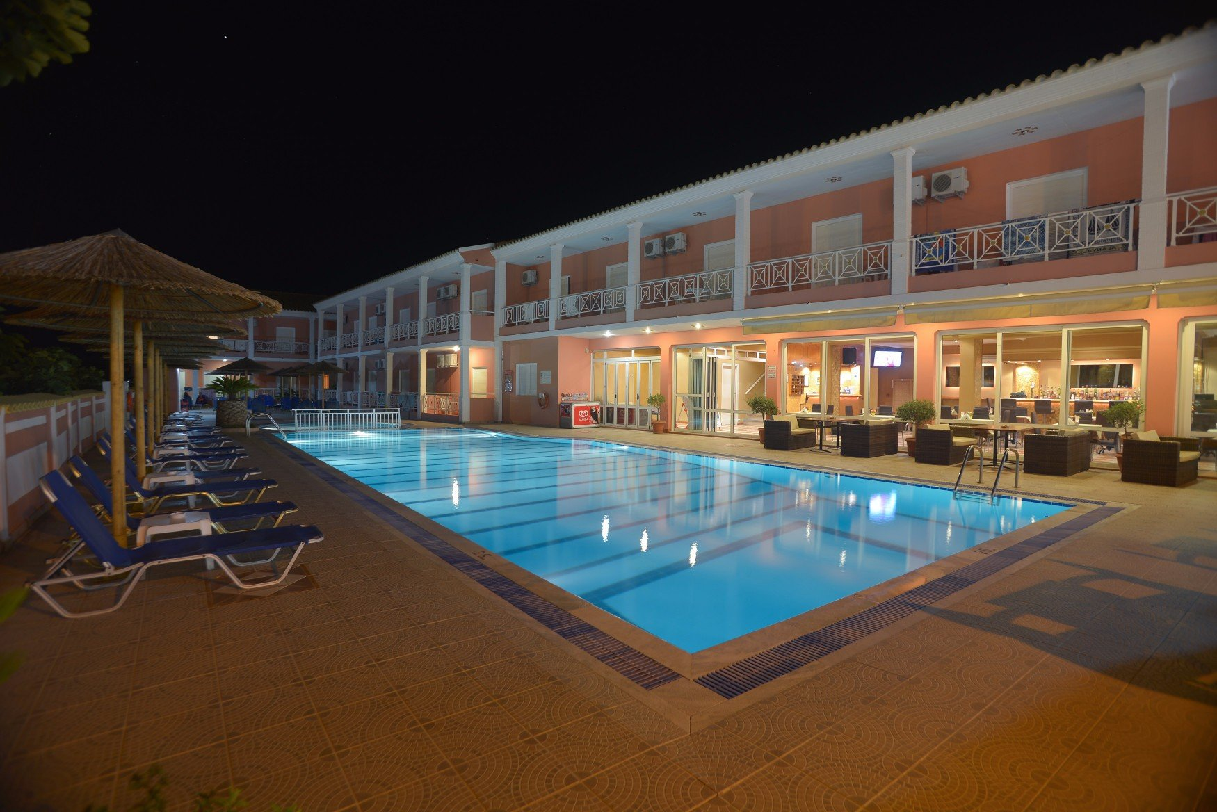 angelina-hotel-sidari-corfu-pool-area-at-night-1