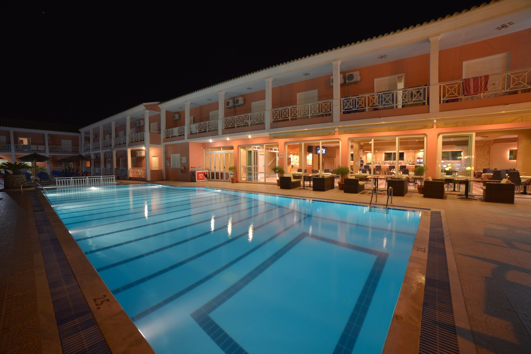 angelina-hotel-sidari-corfu-pool-area-at-night-2