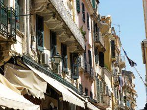Italian-style balconies in Corfu Town © Merlin74 / Shutterstock